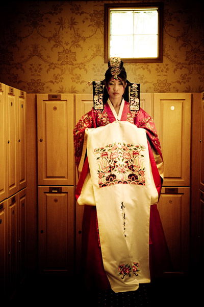 bride with traditional korean dress by this is it photography