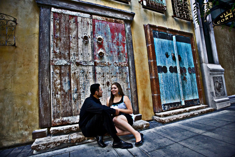 engagement session in santana row