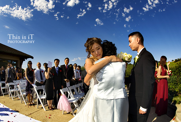 wedding ceremony in cinnabar hills golf club