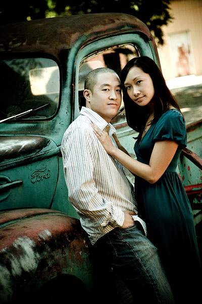 engagement session at san jose historic museum
