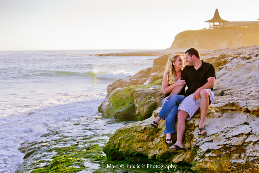 engagement session photo in the beach by This is it Photography