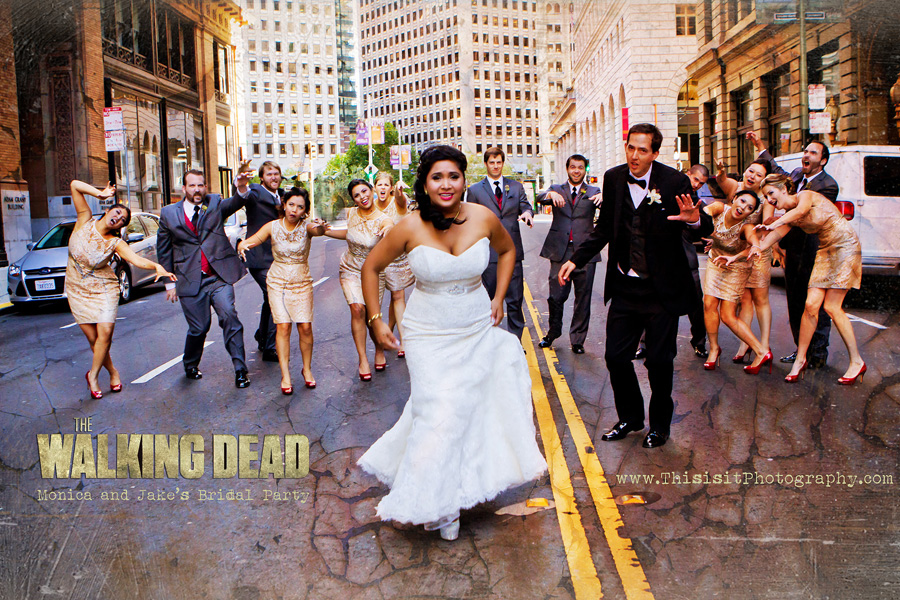 Zombie Bridal Party photos by affordable  Bay Area wedding photographer - This is it Photography
